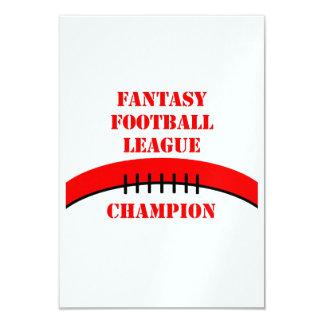 Fútbol de la fantasía invitacion personal