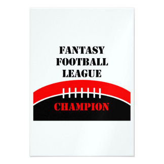 Fútbol de la fantasía anuncio personalizado
