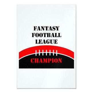 Fútbol de la fantasía invitación 8,9 x 12,7 cm