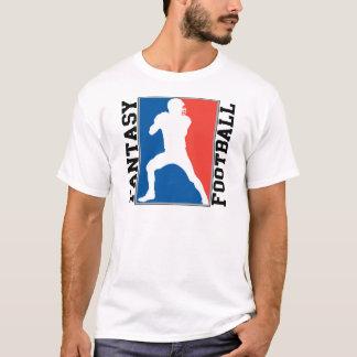 Fútbol de la fantasía, logotipo blanco y azul rojo camiseta