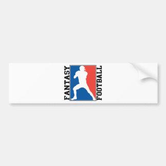 Fútbol de la fantasía, logotipo blanco y azul rojo pegatina para coche