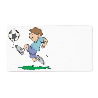 Fútbol de la juventud etiqueta de envío