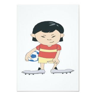 Fútbol de la juventud invitación 12,7 x 17,8 cm