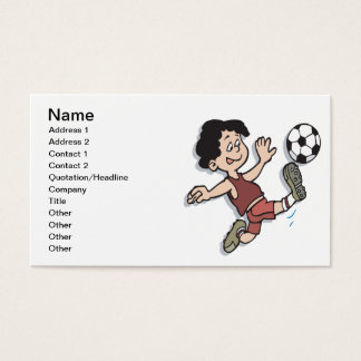 Fútbol de la juventud tarjeta de negocios