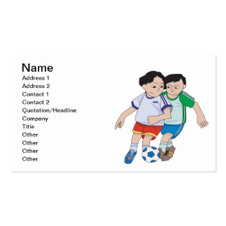 Fútbol de la juventud plantilla de tarjeta personal