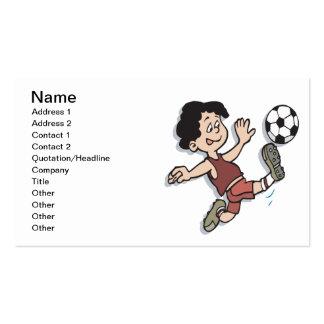 Fútbol de la juventud tarjetas personales