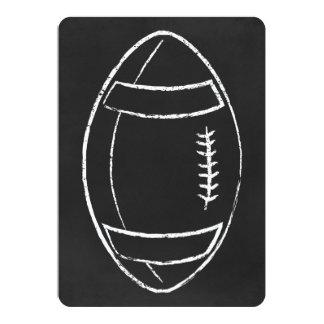 fútbol de la tiza invitación 12,7 x 17,8 cm