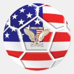Fútbol de los E.E.U.U. Etiqueta Redonda
