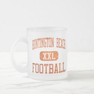 Fútbol de los engrasadores de Huntington Beach Taza De Cristal