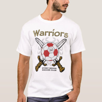 Fútbol de los guerreros camiseta