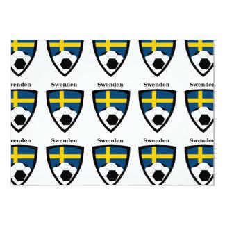 Fútbol de Suecia Invitación 12,7 X 17,8 Cm
