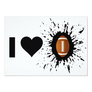 Fútbol del amor del explosivo I Invitación 12,7 X 17,8 Cm