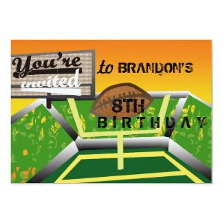 Fútbol del cumpleaños invitación 12,7 x 17,8 cm