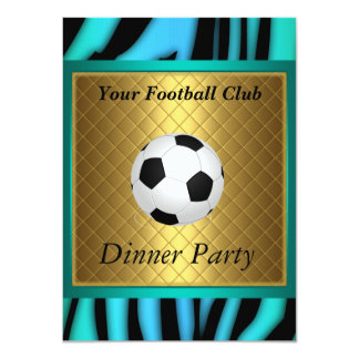 Fútbol del fiesta de cena del fútbol de la invitación 11,4 x 15,8 cm
