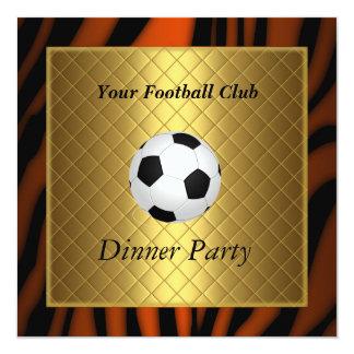 Fútbol del fiesta de cena del fútbol de la invitación 13,3 cm x 13,3cm