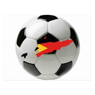 Fútbol del fútbol de Timor Oriental Tarjeta Postal