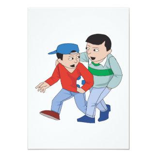 Fútbol del padre y del hijo invitación 12,7 x 17,8 cm