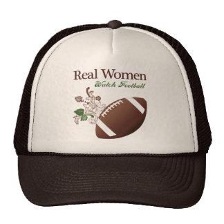 Fútbol del reloj de las mujeres reales gorras de camionero