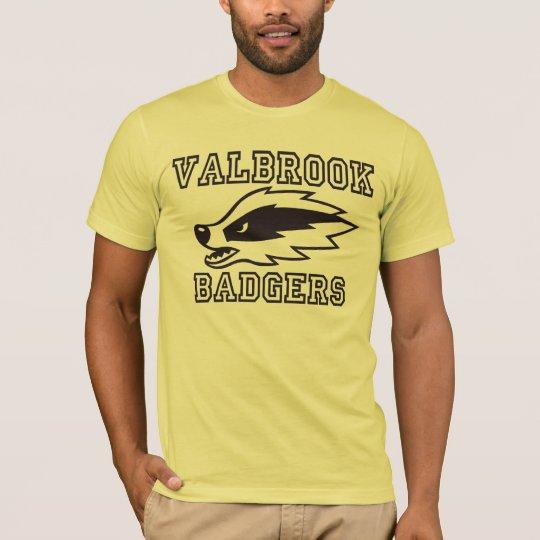 Fútbol del tejón de Valbrook Camiseta