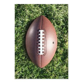 Fútbol en hierba invitación 12,7 x 17,8 cm