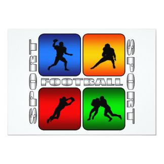 Fútbol espectacular invitación 12,7 x 17,8 cm