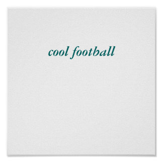 fútbol fresco póster