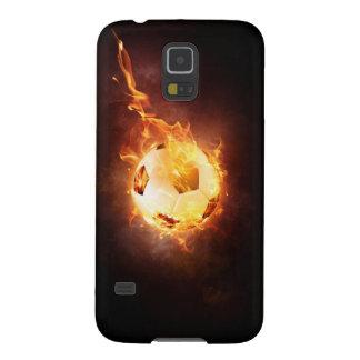 Fútbol, fútbol, bola bajo fuego carcasa galaxy s5