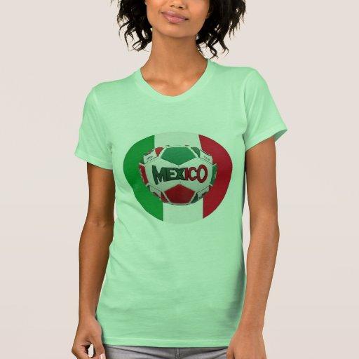 Fútbol México Río de Janeiro el Brasil Camiseta