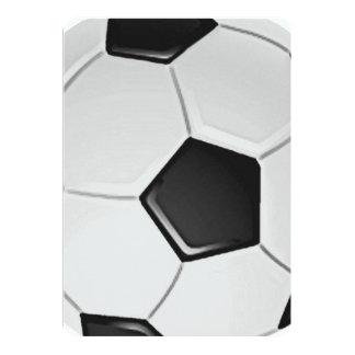 Fútbol o fútbol de asociación americano invitación 12,7 x 17,8 cm