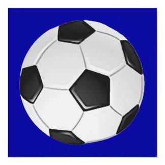Fútbol o fútbol de asociación americano invitación 13,3 cm x 13,3cm