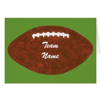 Fútbol personalizado del nombre del equipo, tarjeta de felicitación