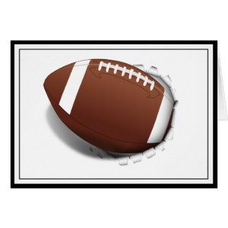 Fútbol que rasga hacia fuera tarjeta de felicitación