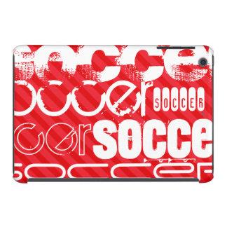 Fútbol; Rayas del rojo del escarlata Carcasa Para iPad Mini