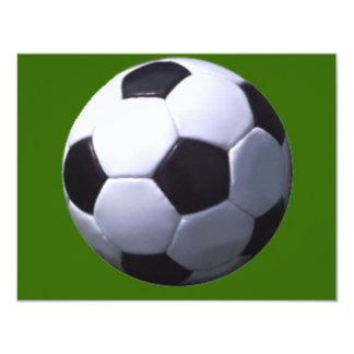 Fútbol real del fútbol invitación 10,8 x 13,9 cm