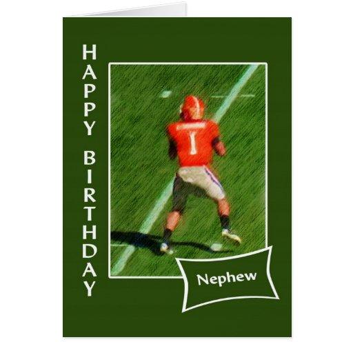 Fútbol - sobrino del feliz cumpleaños felicitacion
