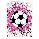 fútbol splat. tarjeta de felicitación