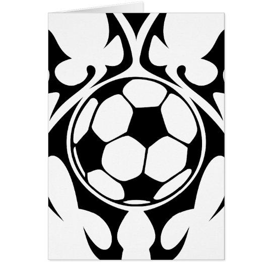 futbol. tribal tarjeta de felicitación