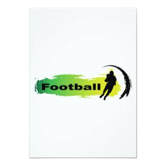 Fútbol único invitación 12,7 x 17,8 cm