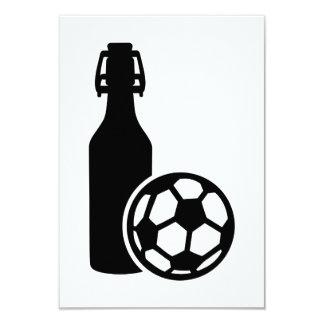 Fútbol y cerveza invitación 8,9 x 12,7 cm