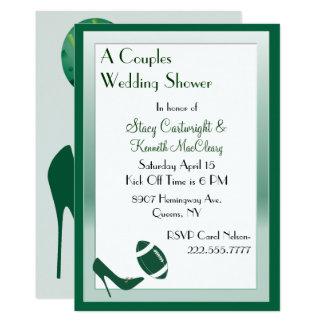 Fútbol y invitación de la ducha del boda del
