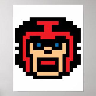 Futbolista del pixel póster