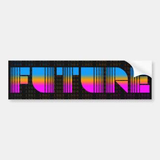 Futuro del estilo del vintage del tigre 80s de Cor Pegatina De Parachoque