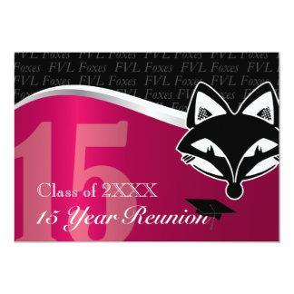 FVL reunión de antiguos alumnos de 15 años Invitación 12,7 X 17,8 Cm