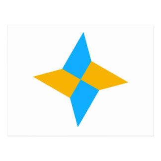 G00003 Origami Shuriken Tarjetas Postales