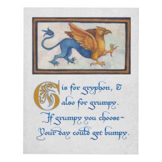 G está para el arte de la pared de Gryphon
