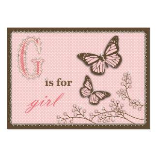 G está para el chica TY Notecard Tarjetas Personales