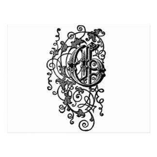 G - La letra decorativa G Postales