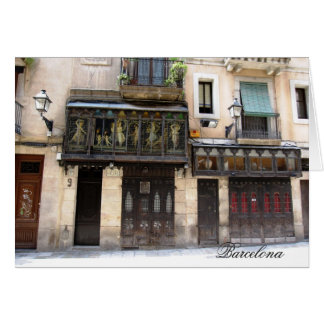 g/nc Barcelona Barri Gotic 1 Barcelona Tarjeta De Felicitación