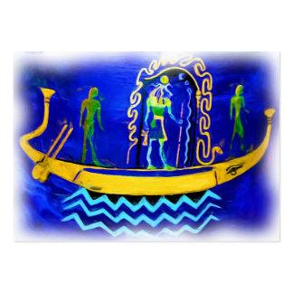 Gabarra egipcia del barco (en el aceite 2) tarjetas de visita grandes