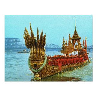 Gabarra real de Tailandia, Bangkok en el río Postal